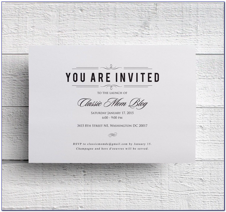 Free Corporate Event Invitation Templates