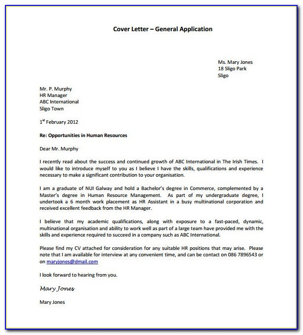 Free Cover Letter Sample Pdf