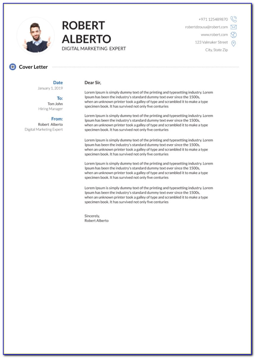 Free Cover Letter Template Downloads