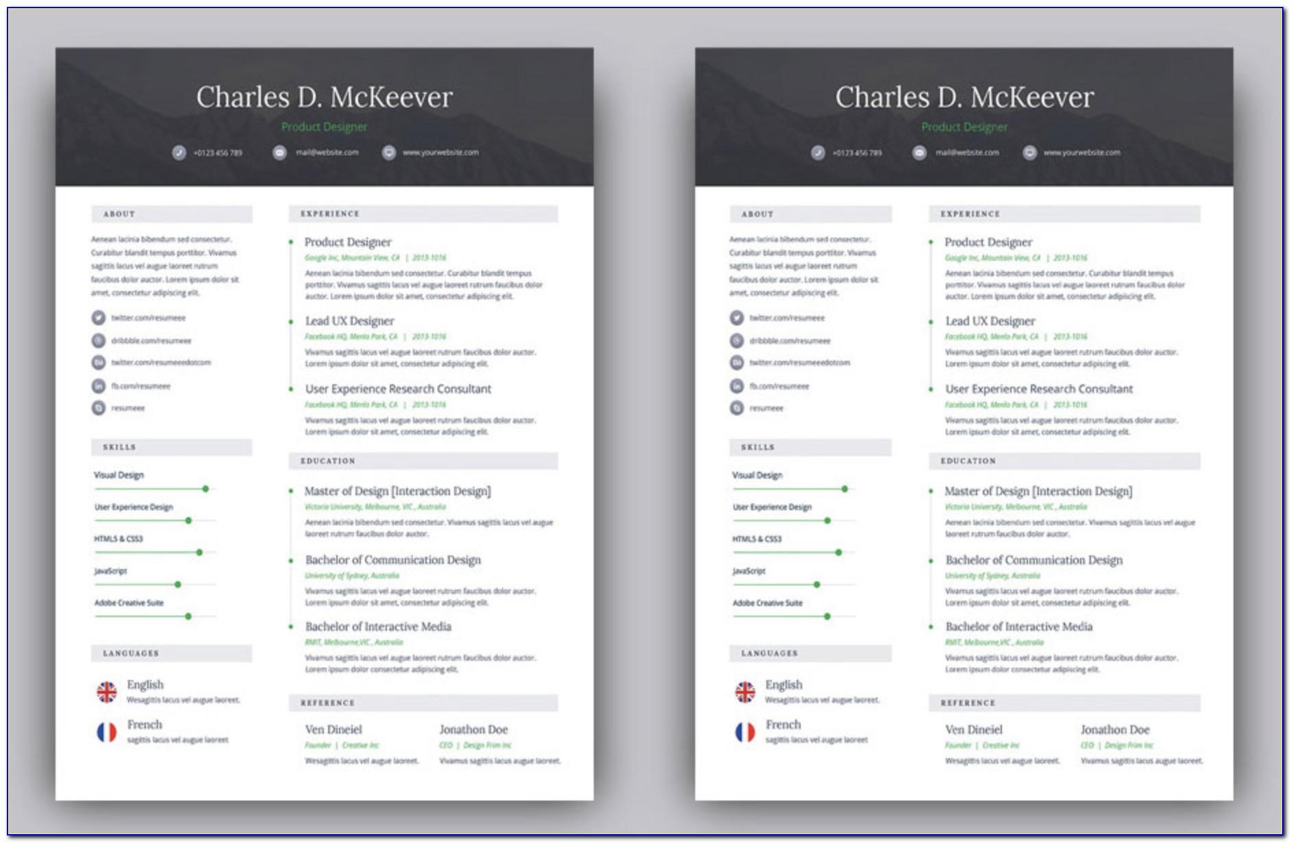 Free Creative Resume Templates Microsoft Word Free