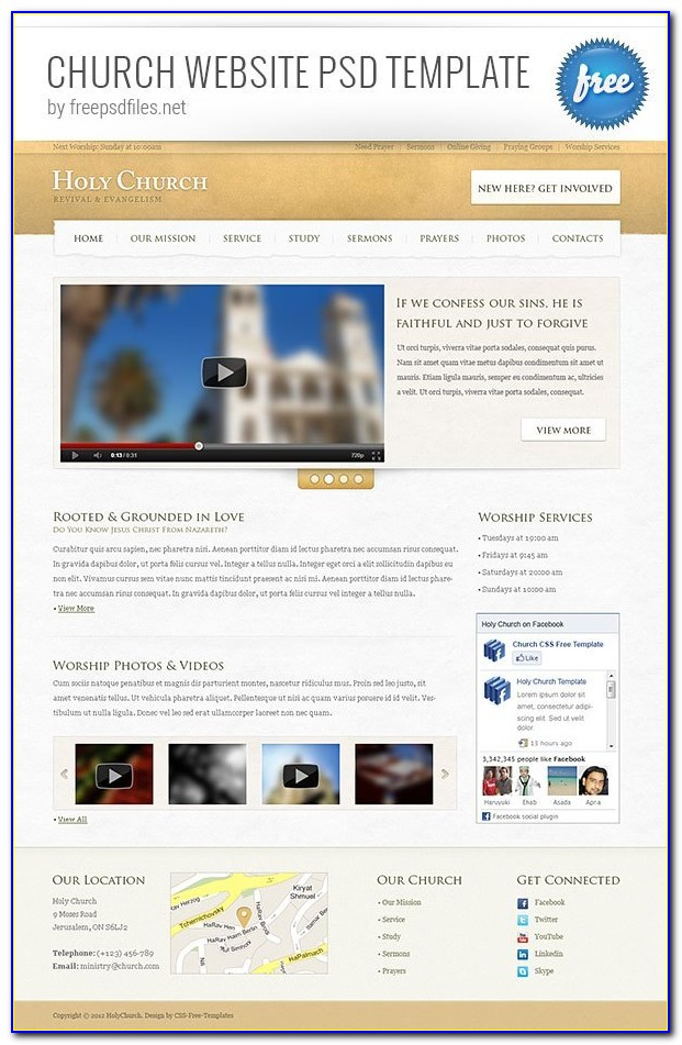 Free Css Church Website Templates Download