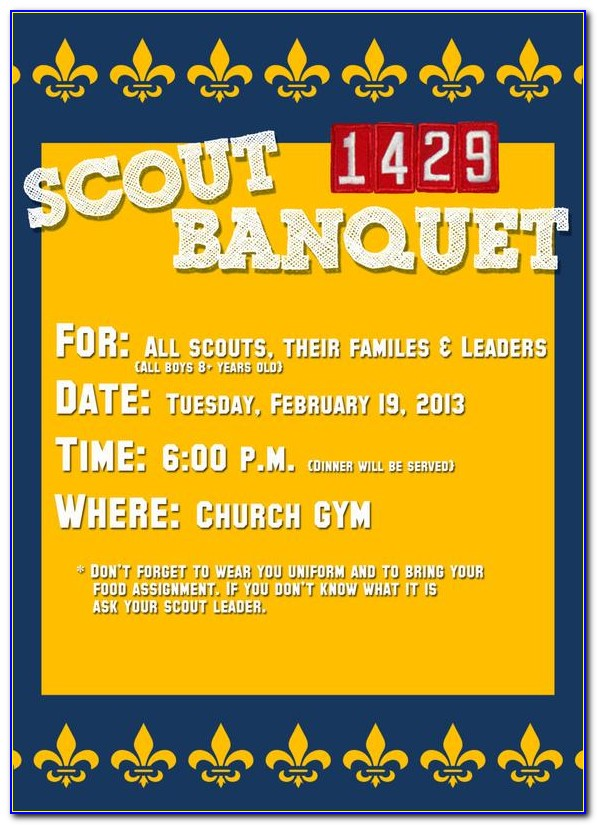 Free Cub Scout Invitations Templates