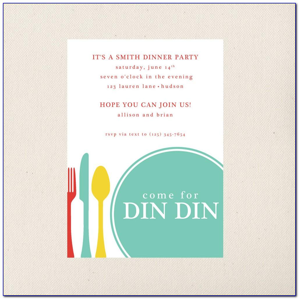 Free Dinner Invitation Maker