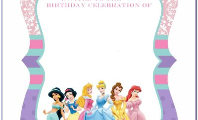 Free Disney Princess Birthday Party Invitation Templates