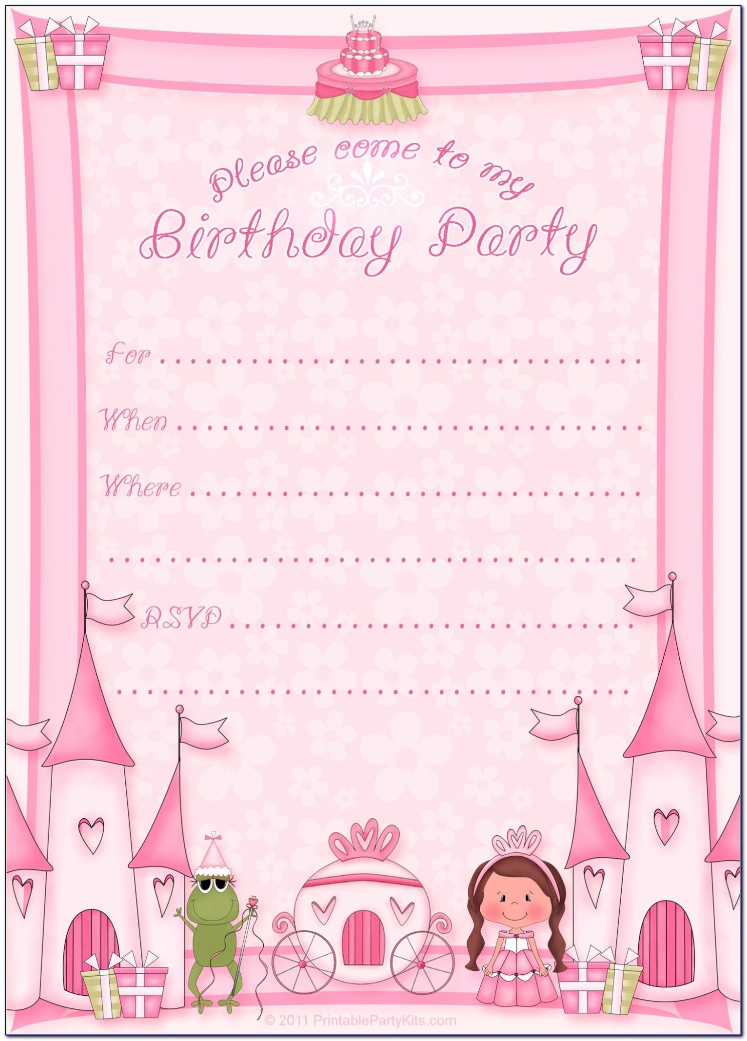 Free Disney Princess Invitation Maker