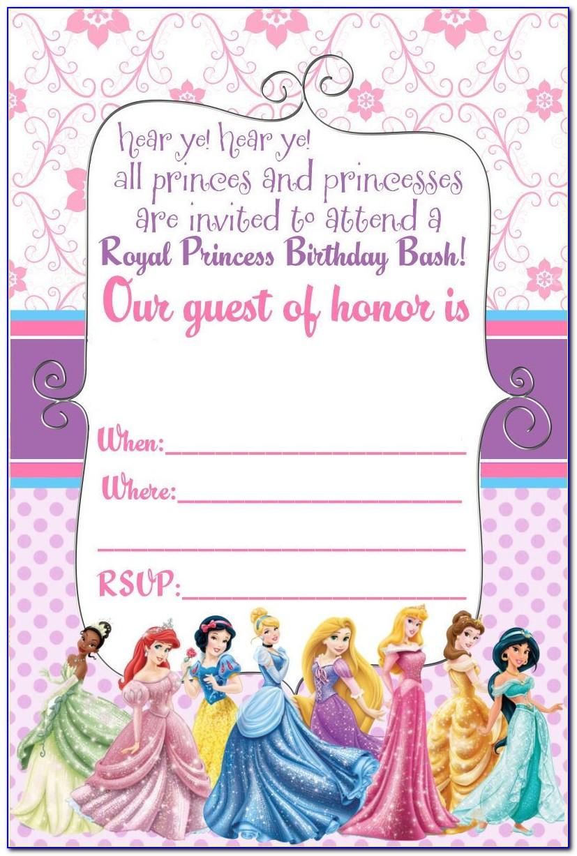 Free Disney Princess Party Invitation Templates