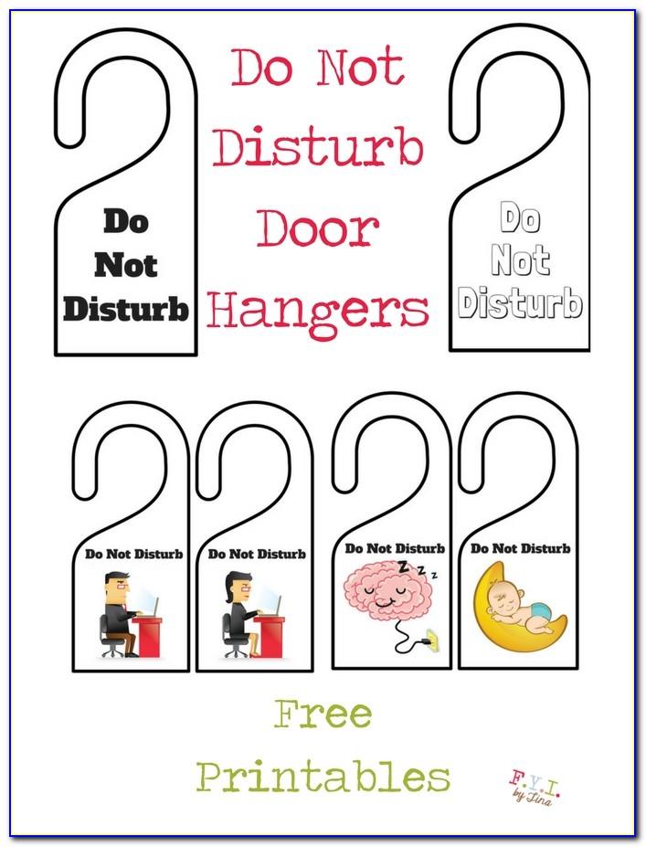 Free Do Not Disturb Door Hanger Template