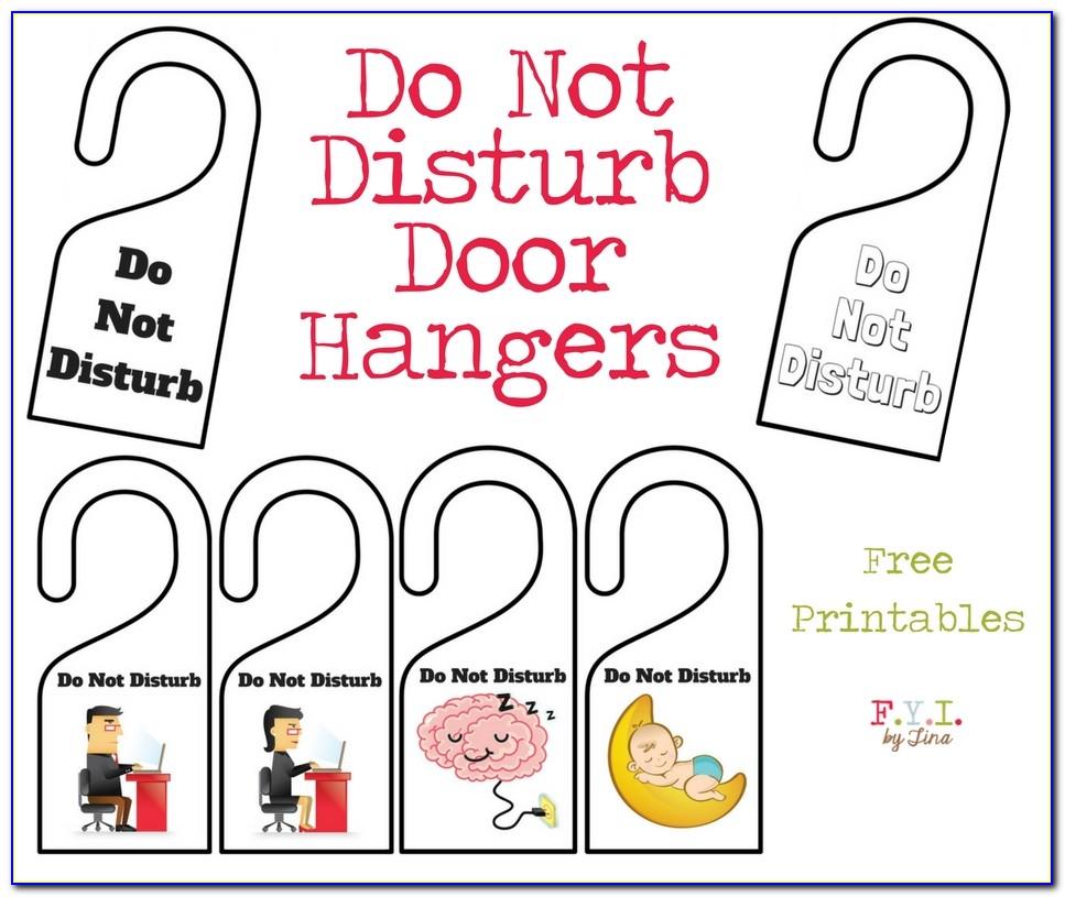 Free Door Hanger Design Template
