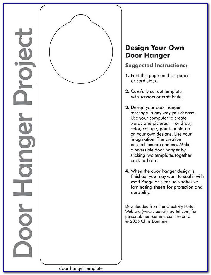 Free Door Hanger Template Illustrator