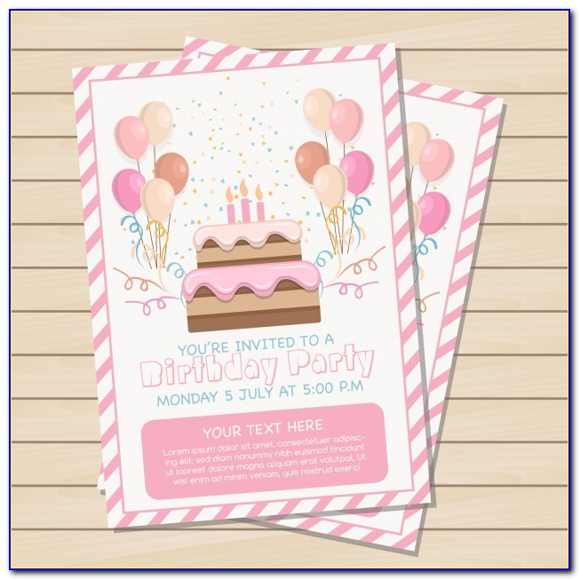 Free Download Birthday Invitation Card Design