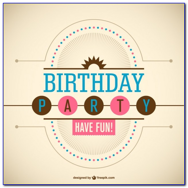 Free Download Birthday Invitation Card