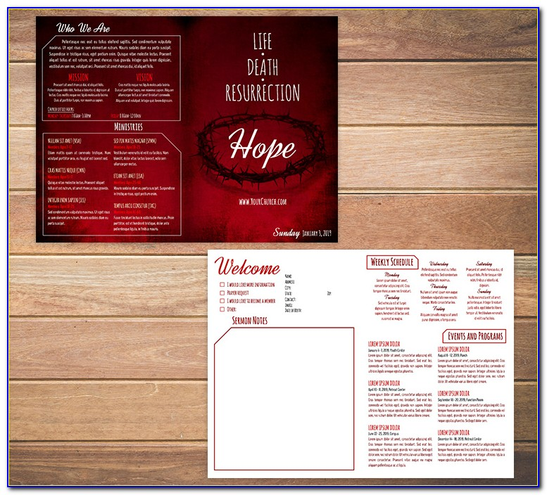 Free Download Church Program Templates