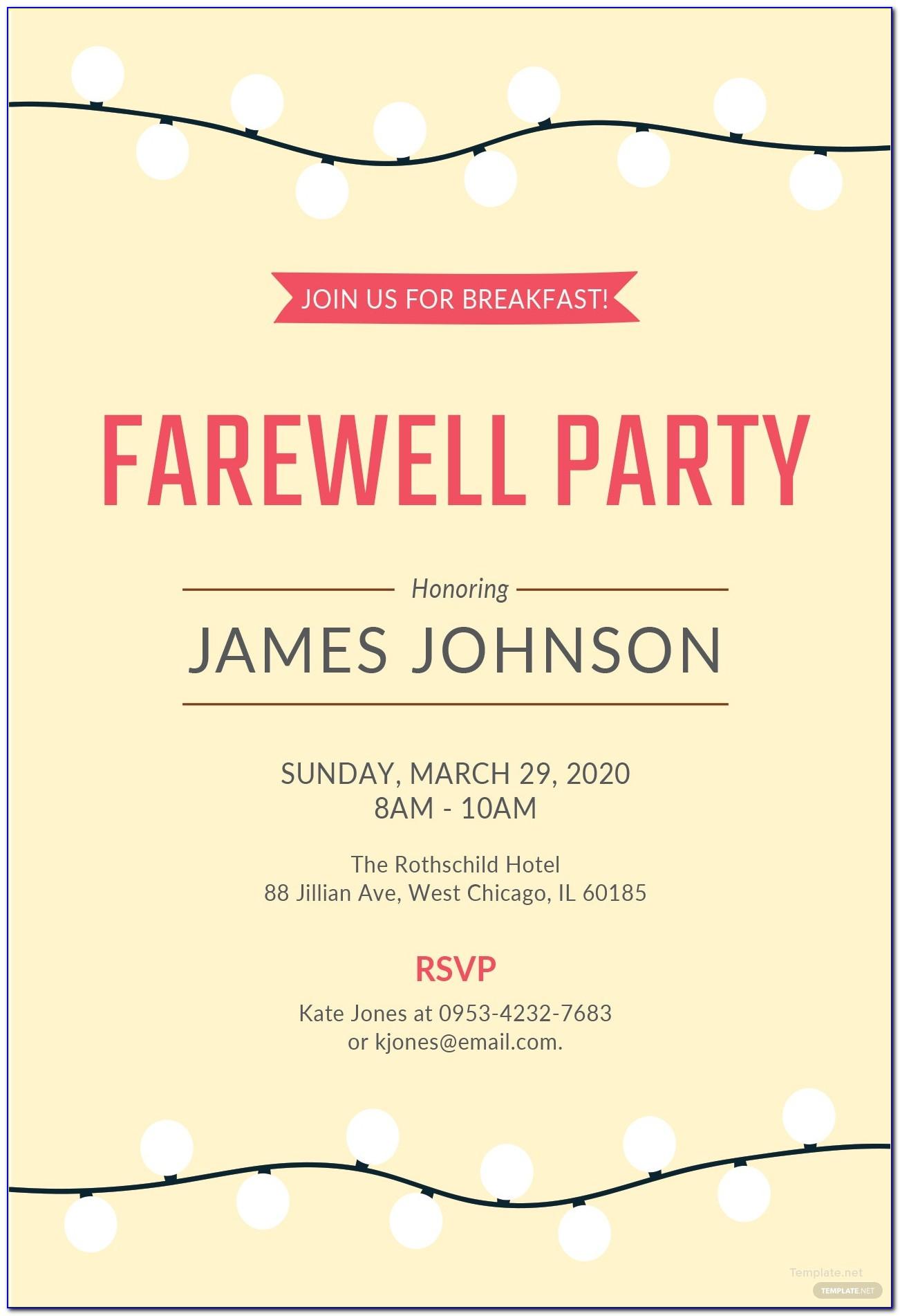 Free Download Farewell Invitation Template