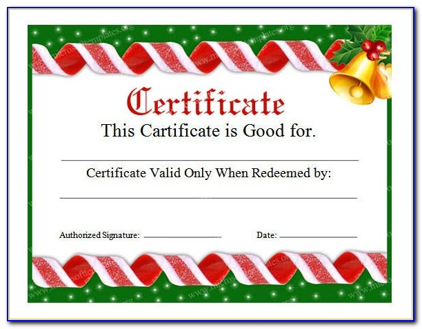 Free Downloadable Christmas Gift Certificate Templates