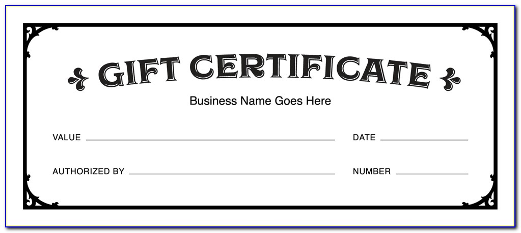Free Downloadable Gift Certificate Template