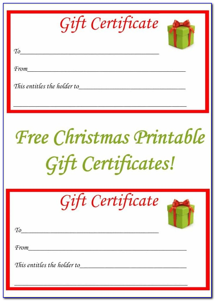 Free Downloadable Holiday Gift Certificate Templates