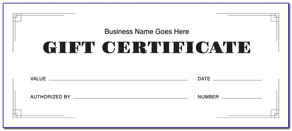 Free Downloadable Spa Gift Certificate Templates