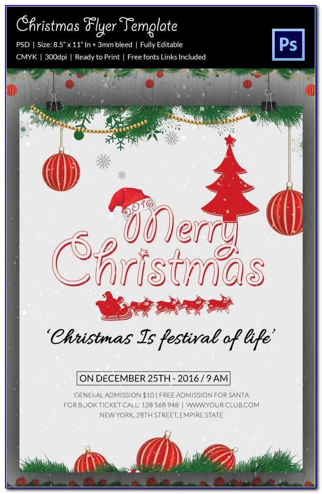Free Editable Christmas Flyer Templates