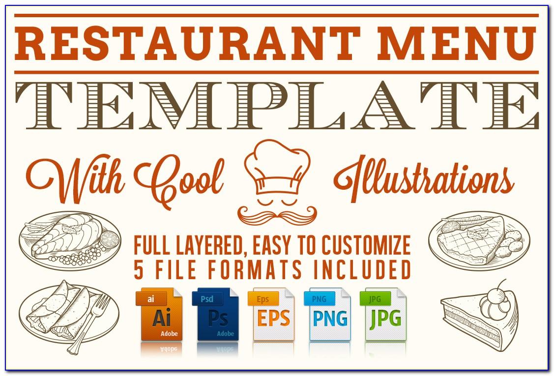 Free Editable Restaurant Menu Templates For Word