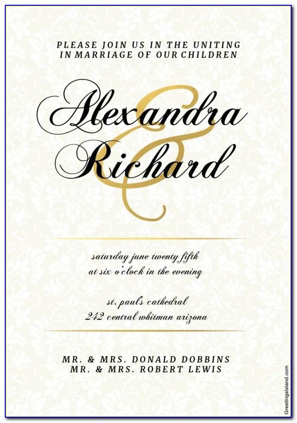 Free Editable Wedding Menu Templates