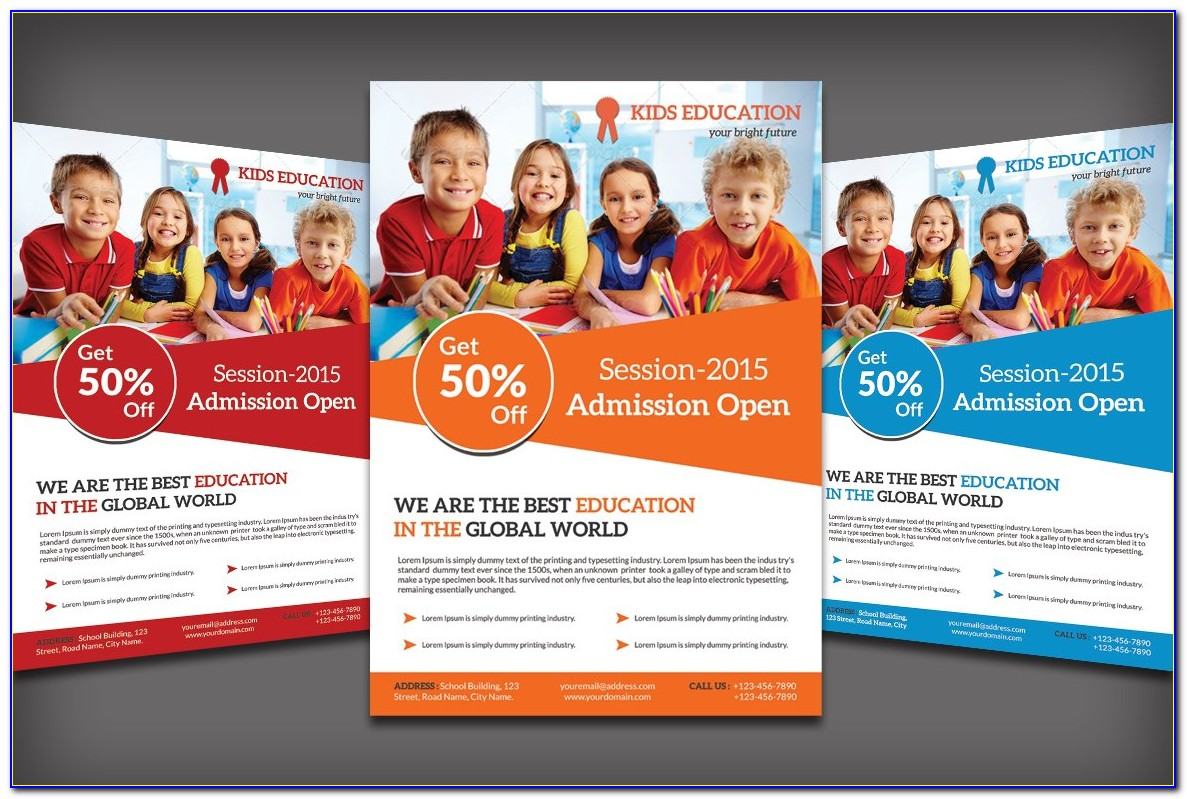 Free Education Flyer Templates Word