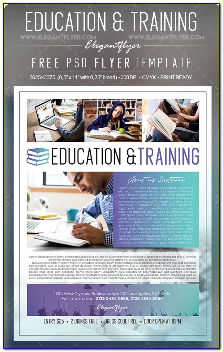 Free Educational Printable Flyer Templates