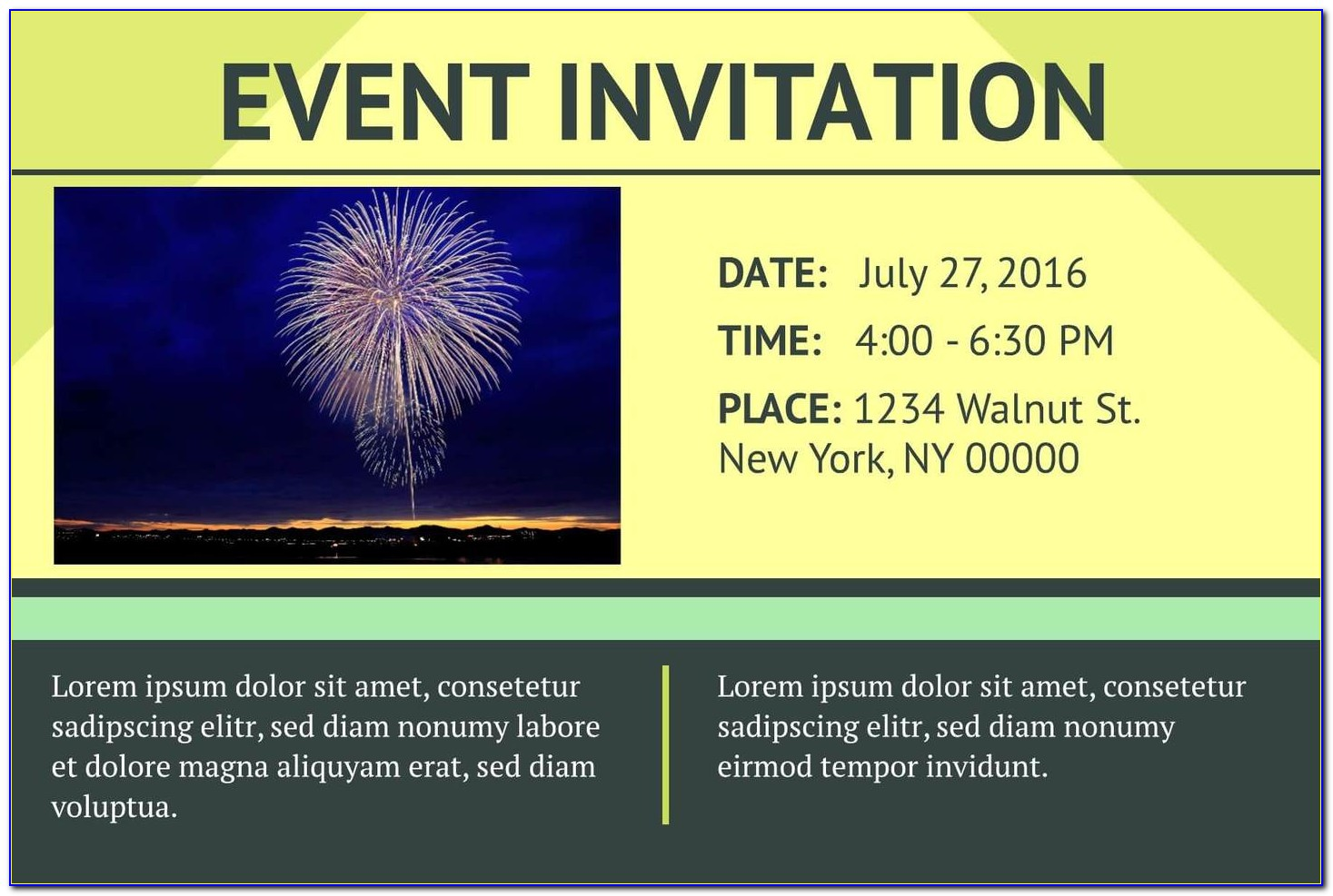 Free Email Event Invitation Templates