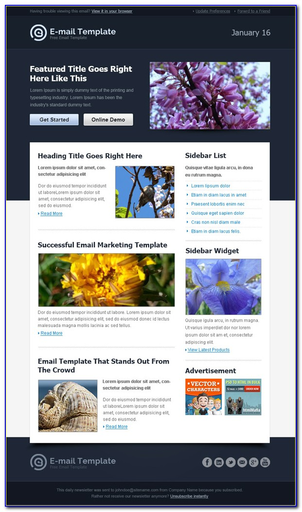 Free Email Marketing Templates Download
