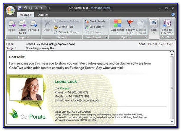 Free Email Signature Templates For Outlook 2010