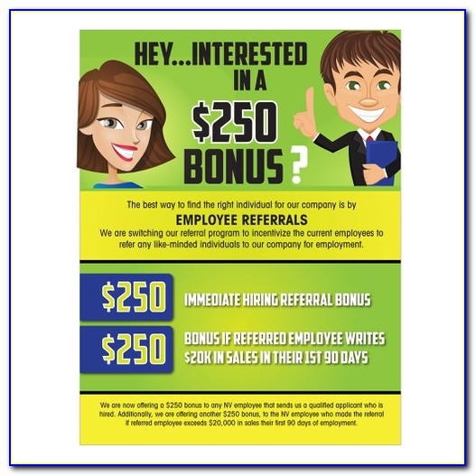 Free Employee Referral Program Flyer Template