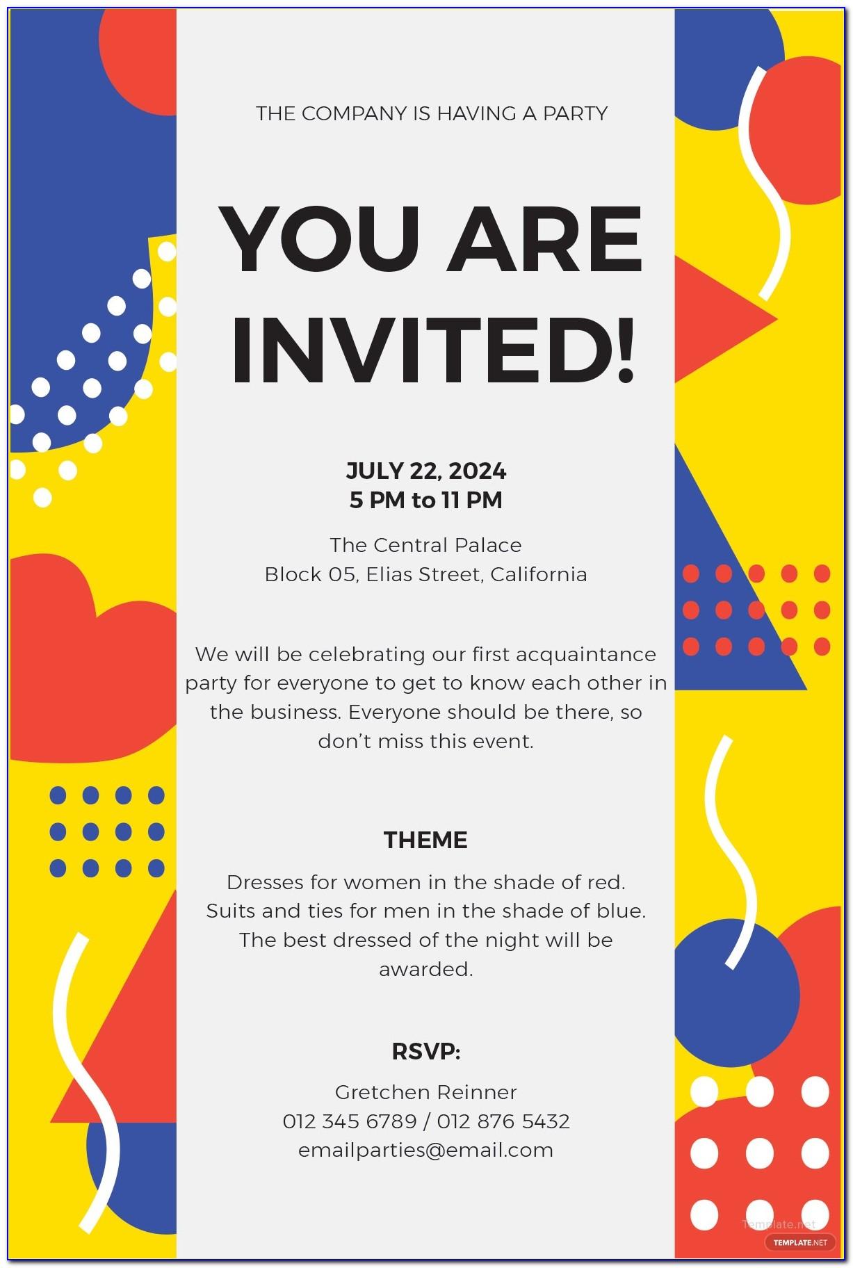 Free Event Invitation Templates Download