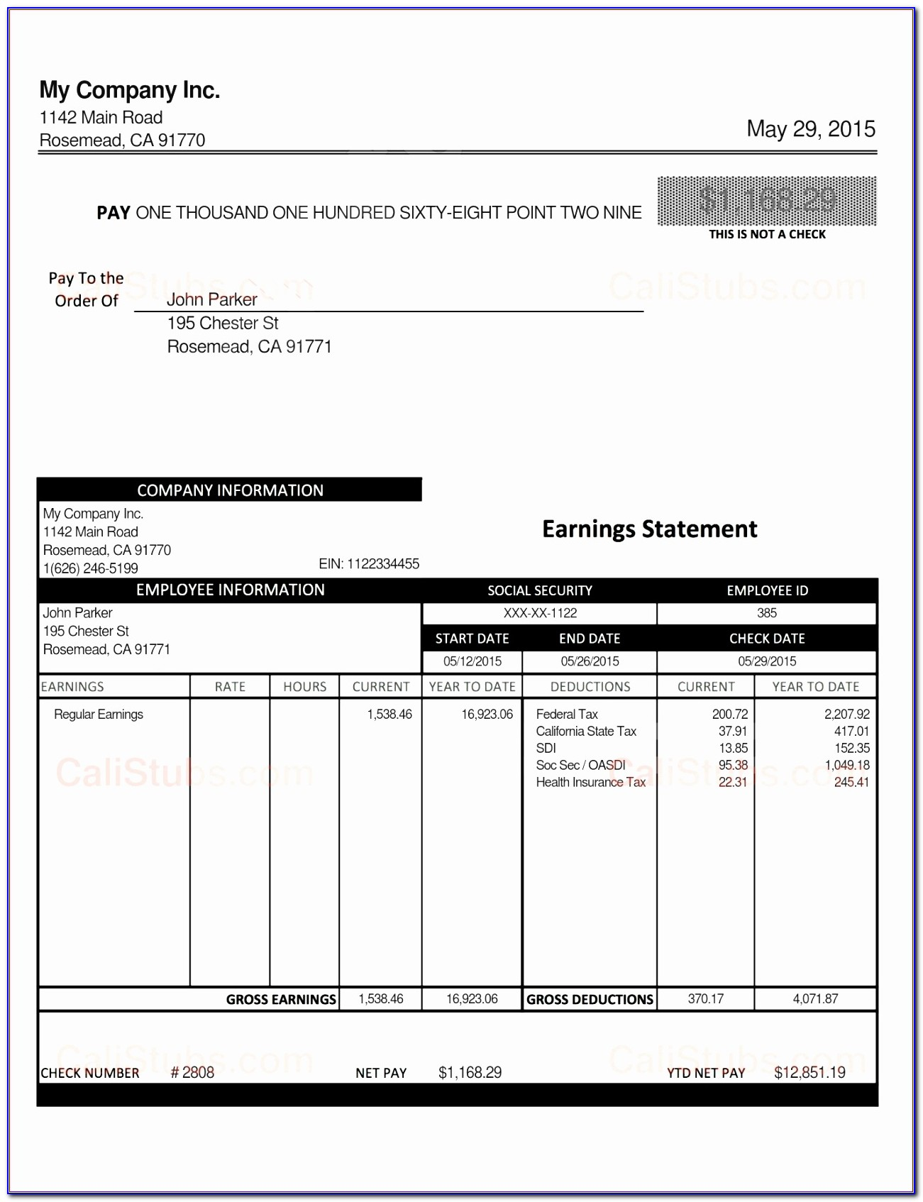 Free Excel Payroll Template 2017
