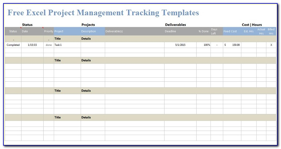 Free Excel Project Management Template For Mac