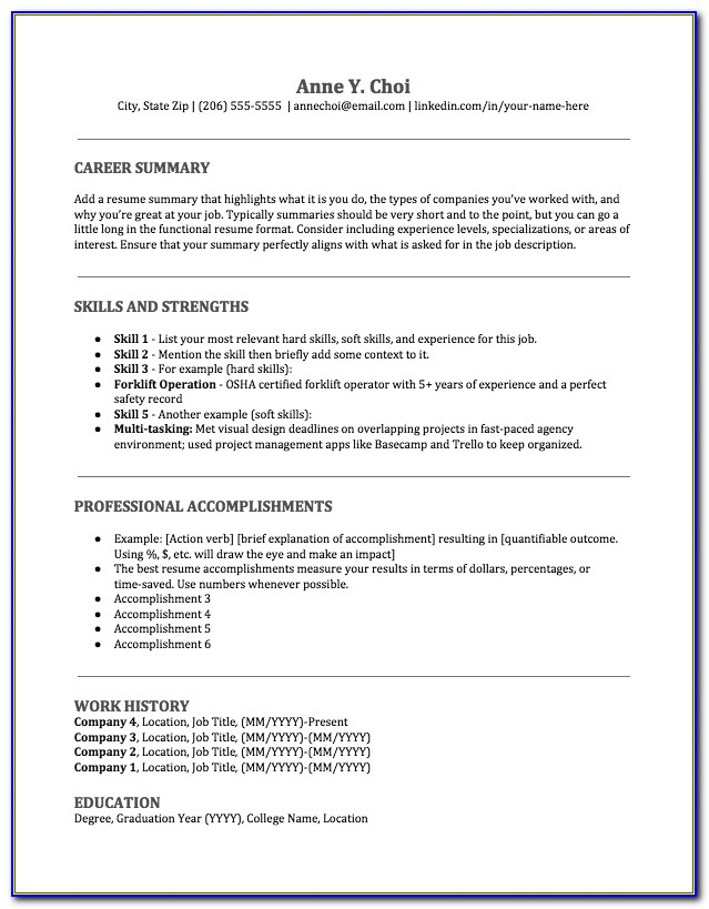 Free Executive Classic Resume Template Download
