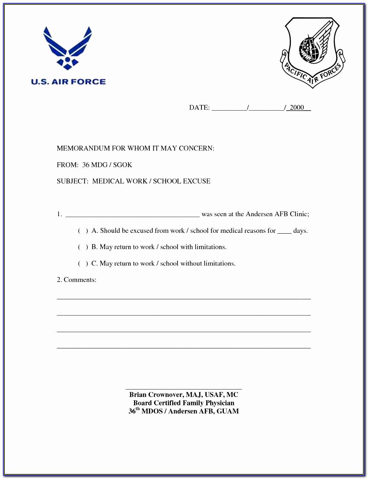 Free Fake Doctors Note Template Pdf