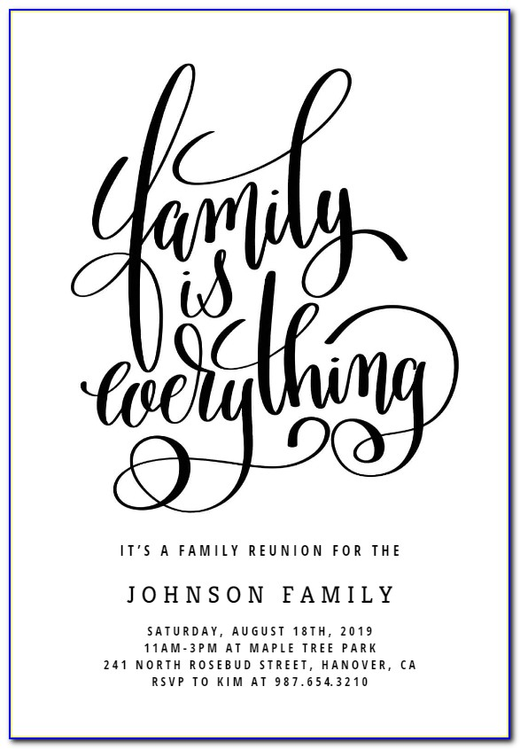 Free Family Reunion Announcements Templates