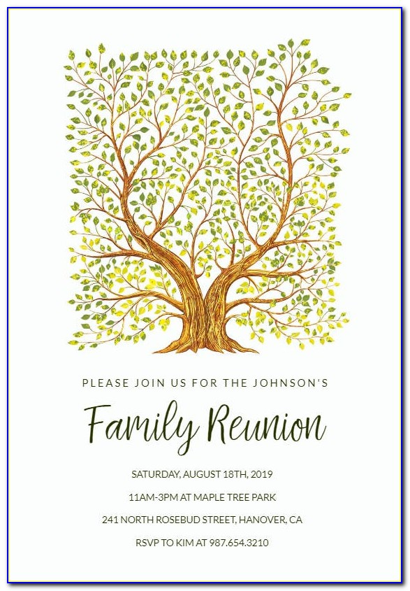 Free Family Reunion Flyer Template Word