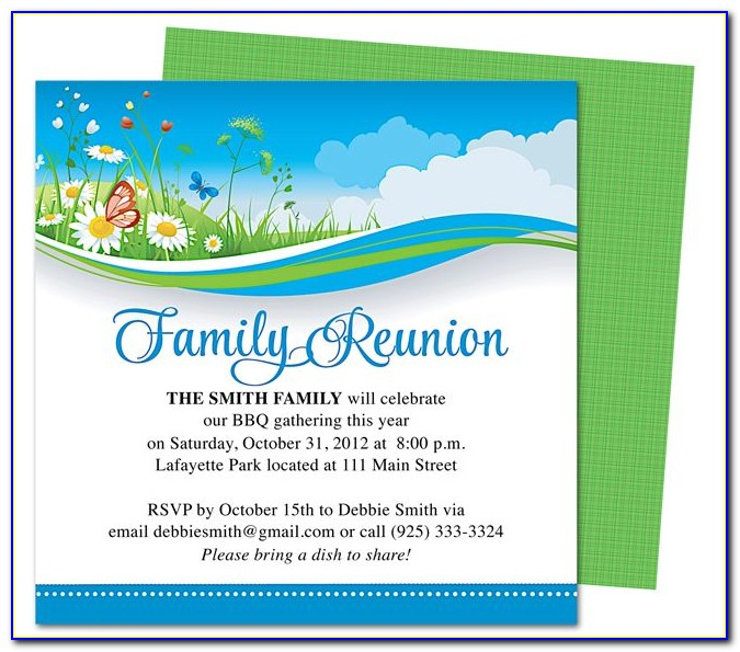 Free Family Reunion Flyer Template