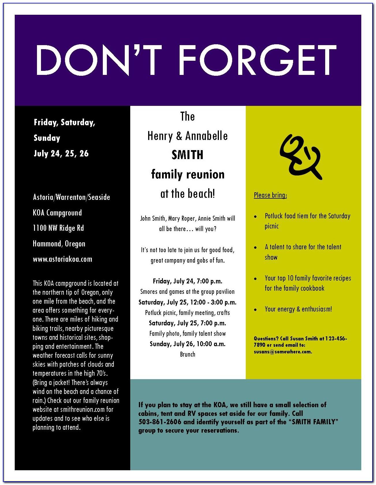 Free Family Reunion Invitation Maker
