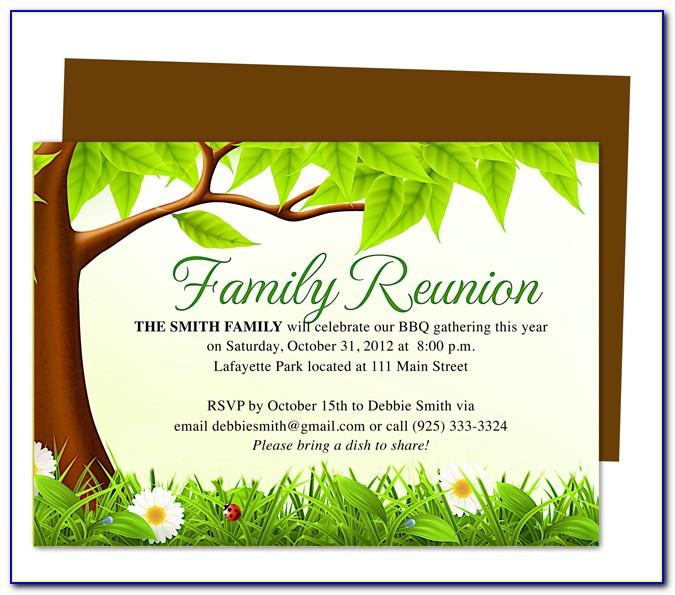 Free Family Reunion Invitation Templates