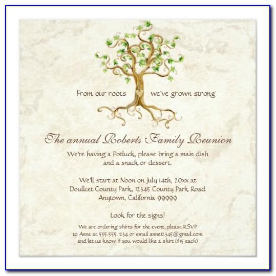 Free Family Reunion Templates Printable