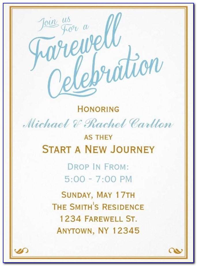 Free Farewell Invitation Template