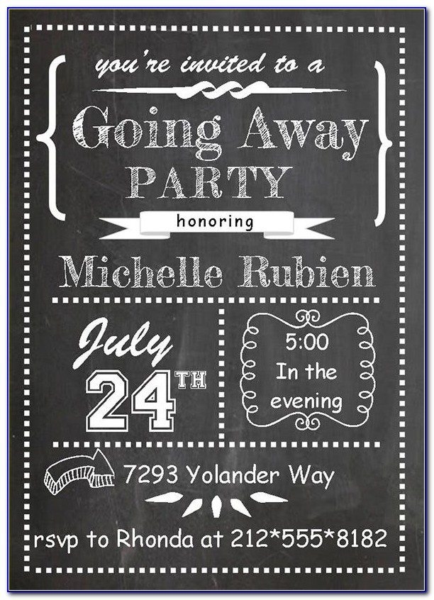 Free Farewell Invitation Templates For Word