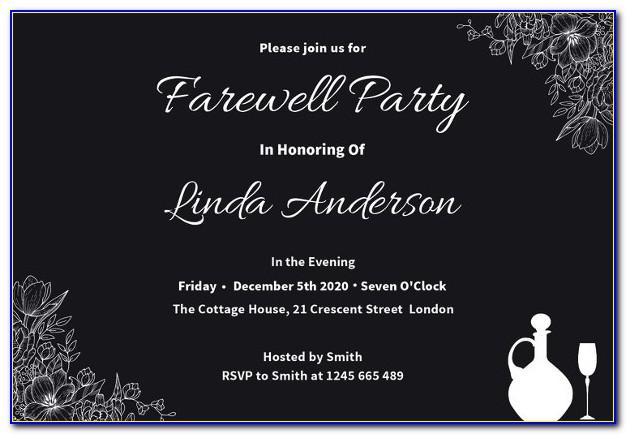 Free Farewell Lunch Invitation Template