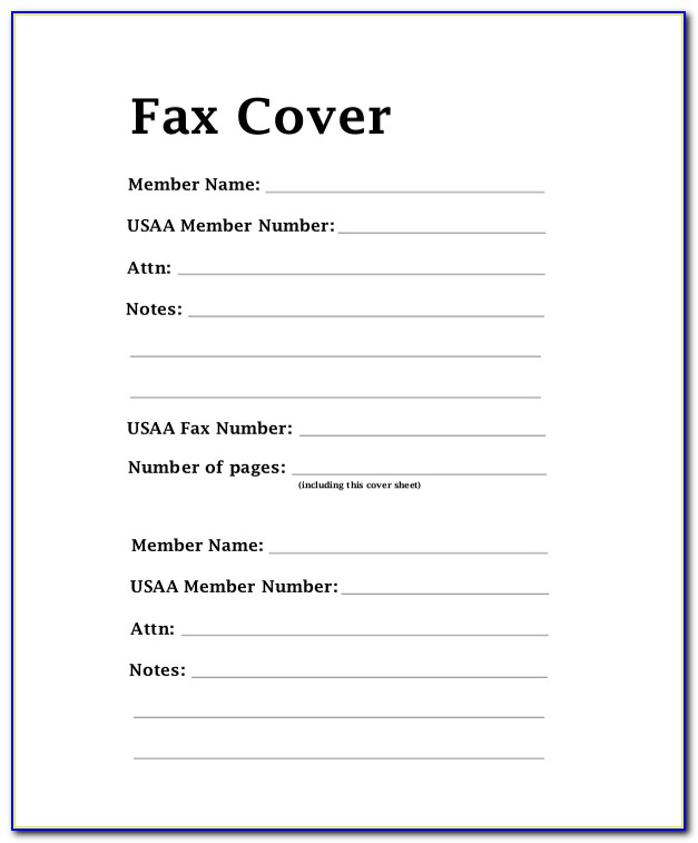 Free Fax Cover Letter Template Download