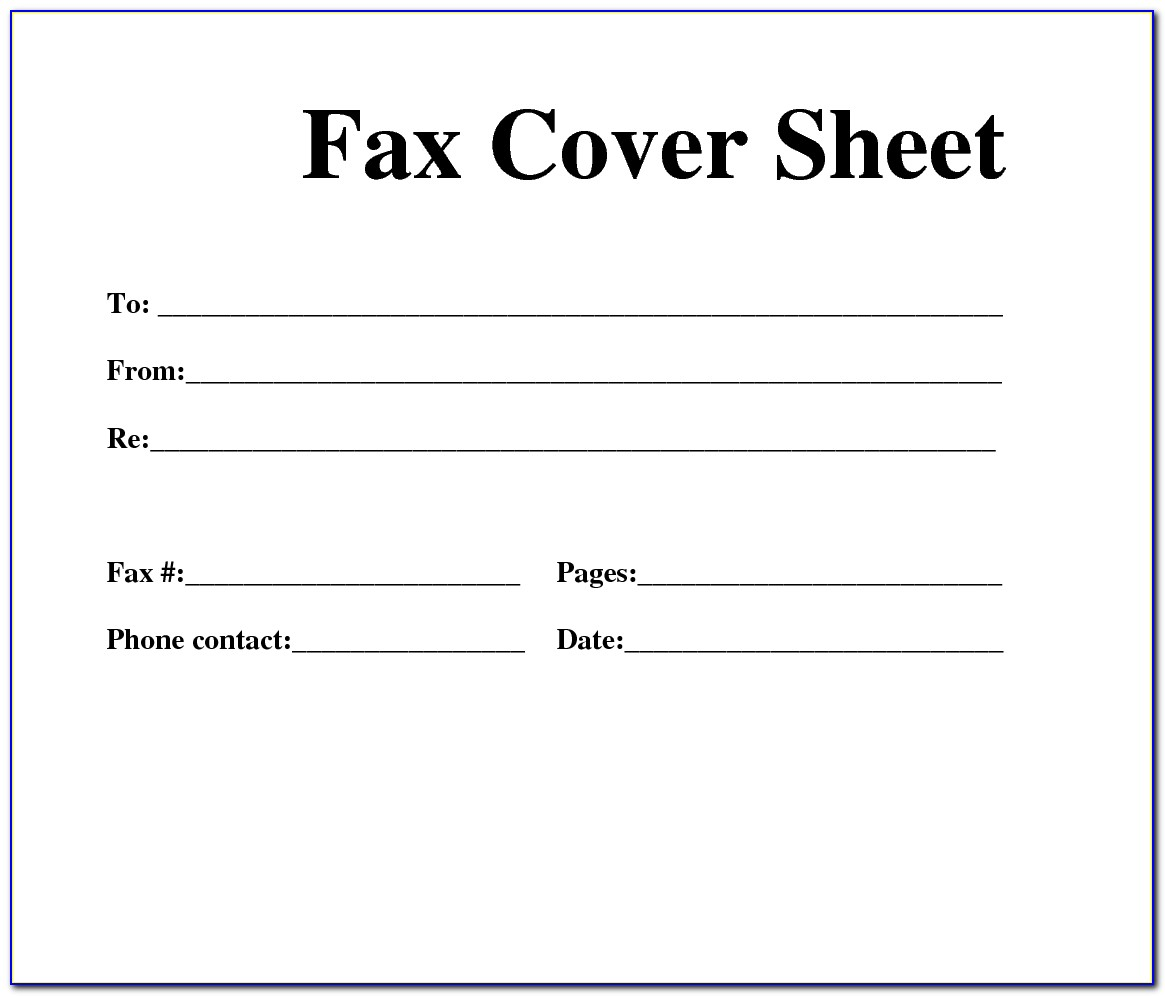 Free Fax Cover Sheet For Pages