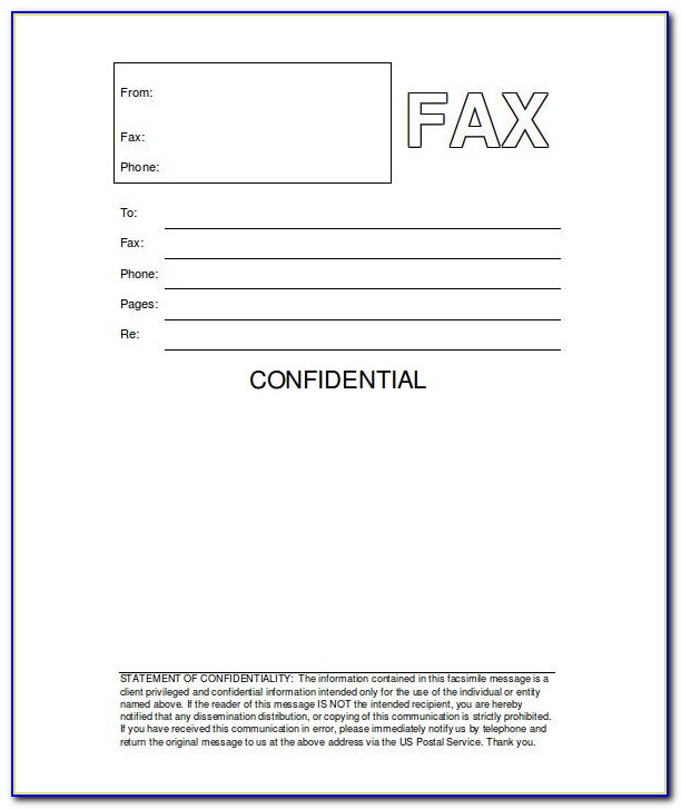 Free Fax Cover Sheet Template For Ipad
