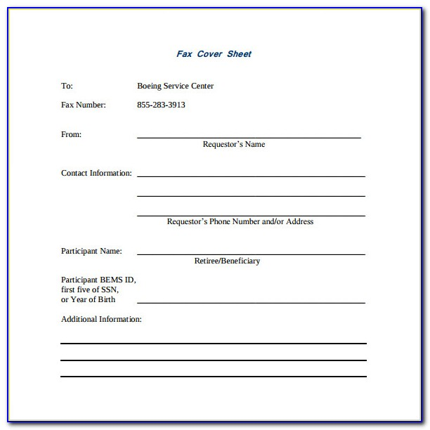 Free Fax Cover Sheet Template Pdf
