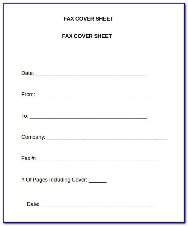 Free Fax Cover Sheet Template Word 2010