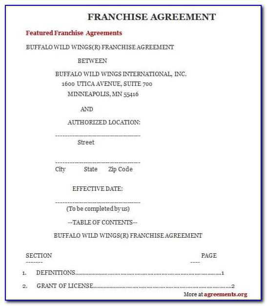 Free Franchise Agreement Template South Africa
